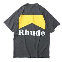 Wholesale best breathable shirts resale online - 2019 Rhude Best Quality Logo Printed Women Men T shirts tees Hiphop Men Cotton T shirt Shourt Sleeve For Summer