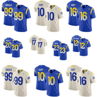 aaron ramsey venda por atacado-2020 jerseys New Custom Los Angeles Mens Womens Ram Juventude Aaron Donald Jared Goff Cooper Kupp Jalen Ramsey Robert Woods Van Jefferson LA