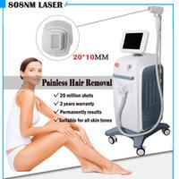 máquinas de gelo venda por atacado-2019 Melhor negociação soprano laser de gelo 808nm diodo Laser Hair Removal Machine Venda 808 Fiber Laser Diode Acoplado