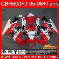 Wholesale f3 1997 1998 fairings resale online - Body Tank For HONDA CBR600FS CBR600CC CBR FS NO CBR600F3 CBR F3 red white new CBR600 F3 Fairing