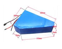 torba hücre şarj cihazı toptan satış-51.8 V 35AH üçgen kadm pil 52V 35AH pil paketi ile ücretsiz çanta kullanımı samsung 3500 mah hücre 50A BMS Ile 58.8 V 4A Şarj