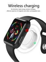 наручные часы магазин оптовых-Новый Goophone часы I2SPRO 1.54 дюймов HD сенсорный экран сапфировое зеркало беспроводной зарядки MTK2502C 350mAh аккумулятор для Android iOS смартфон
