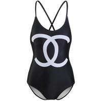 swimsuit de natação para senhoras venda por atacado-Designer de luxo Senhoras Natação Praia Sexy Swimwear Das Mulheres Maiô Roupas de Banho Maiôs One Piece Red
