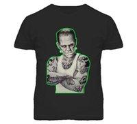ingrosso disegni moderni della maglietta-FRANKENSTEIN La t-shirt manica corta T-shirt maniche lunghe di Modern Prometheus DESIGN