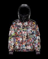 Wholesale new designs oil paintings for sale - Group buy New Custom fashion oil painting painted design down jacket men loose down jacket PALMANGELS winter Goose down warm thick outdoor coats