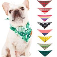 padrão de babadores de bandana venda por atacado-Festival presentes Vários Padrão Pet Dog Bow Tie Collar Cabeça Cachecóis Cão Bandana Triângulo Bibs Cão Lenço