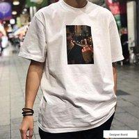 männerhemd-art und weisefotos großhandel-19SS BOX LOGO GESEGNETES FOTO T DVD Sommer Hip Hop Street Skateboard T-Shirt Männer Frauen Casual Fashion Kurzarm HFYMTX408