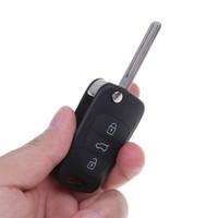Wholesale folding car remote flip key shell for sale - Group buy Folding Flip Remote Key Shell fit Remote Car Key Shell button Flip