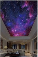 Wholesale 3d wall ceiling murals wallpaper resale online - High Quality Custom photo wallpaper d ceiling murals wallpapers Beautiful starry sky fantasy sky zenith painting ceiling background wall