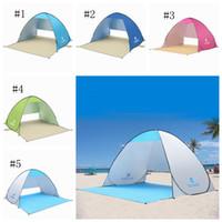 plaj piknik toptan satış-Açık Plaj Çadır Barınaklar Gölge UV Koruma Balıkçılık Yürüyüş için Ultralight Çadır Piknik Parkı plaj ZZA316