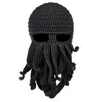 oktopus unisex hut großhandel-Winter-Gesichtsmaske Snowboard Octopus Wolle Balaclava Lustiger Hut Warme Mütze Cap Winter