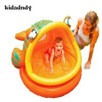 ingrosso palla di pesce gonfiabile-Piscina gonfiabile per pesci grandi Vasca da bagno per bambini palla da biliardo LMY918LL