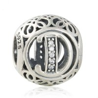 Wholesale silver letter bead pandora for sale - Group buy 2018 New sterling silver Openwork Letter D Vintage Alphabet Beads For Jewelry Making Fit Original Pandora Bracelet