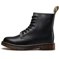 botas de invierno al por mayor-Marca de fábrica de los hombres botas Martens cuero invierno cálido zapatos de la motocicleta para hombre botín Doc Martins piel hombres Oxfords zapatos