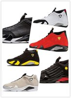 ingrosso aria retro 14-Nike Air Jordan Retro Shoes 2018 Men Designer 14 14s The Last Shot scarpe da basket Desert Sand DMP Black Toe Red Thunder mens Scarpe da ginnastica sportive taglia 41-47