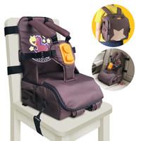 ingrosso seggiolone per bambini pieghevole-3 in 1 multi-funzione per la memorizzazione trasporta la cinghia Sedile adattatore di alimentazione per bambini sedia seggiolino 5 punti imbracatura seggiolone CJ191115