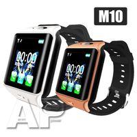 браслет bluetooth часы для iphone оптовых-НОВЫЙ M10 Bluetooth Smart Watch Health спортивные часы для Android Samsung и IOS Apple iphone Смартфон Браслет Smartwatch