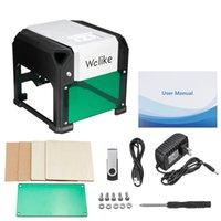 ingrosso macchine utensili laser-Strumenti 3000mW Laser ad alta velocità macchina per incidere USB fai da te laser Engraver Stampante automatica artigianato del legno per Win / Mac OS Sistema