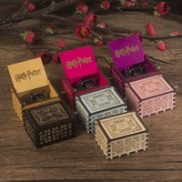 Wholesale games decor resale online - Wooden Music Box Merry Christmas Harry Potter Game of Thrones Theme Handmade Engraved Music Box Chirstmas Decor Party Favor GGA2766