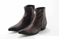 Wholesale british style pointed toe boots resale online - martin boots Botas hombre mens winter footwear british style boots side zipper crocodile skin cowboy boots mens