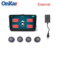 Wholesale multimedia player for car resale online - ONKAR Car USB TPMS Android Tire Pressure Monitoring System External Sensor for Car DVD Player Multimedia GPS Navigation USB