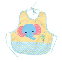 Wholesale waterproof aprons for children resale online - DALEMOXU Waterproof Baby Bib Toddler Breastplate Boy Girl Clothes Sleeveless Adjustable Apron With Pocket For Children Things