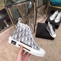baskets converse  achat en gros de-DIORDIORConverserKaws CONVERSE Shoes Oblique Homme Kim Jones B22 Haut Haut Bleu de B23 triple Sneakers baskets transparent Running occasionnels