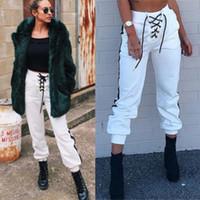 Wholesale womens baggy dance trousers resale online - Womens Casual Harem Baggy Hip Hop Dance Sweat Pants Slacks Trousers Women Ladies Brief Casual Pant ss
