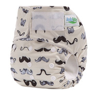 Wholesale cloth diaper print insert for sale - Ananbaby Reusable Magic Diaper Washable Baby Nappy Cover With Microfiber Insert Brand Printing Couche Lavable Cloth Diaper HA020
