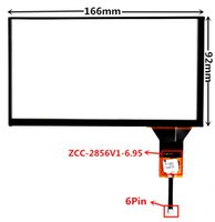 6.95 inch ZCC-2856V1-6.95 Capacitive Touch Digitizer for Car DVD GPS navigation multimedia Touch screen panel Glass