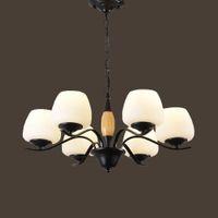 led espiral e27 al por mayor-110V / 220V E27 Lámparas de araña contemporáneas clásicas de hierro en espiral Lámpara de sala de estar LED Lámpara de suspensión para bebés Iluminación