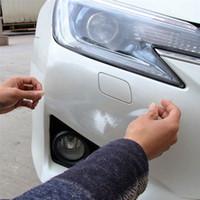 x film vinilo al por mayor-20cm x 1/2/3 / 6M Rhino Skin Sticker Film de protección Vinilo Transparente Transparente Película antisuciedad para auto Calcomanía de pintura de parachoques de coche