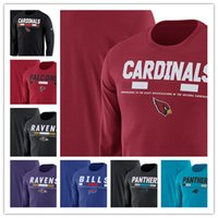 facturas de primavera al por mayor-2019 termal masculino Panthers Bills Ravens Cardinals Falcons Legend Staff Performance Camiseta de manga larga con cuello redondo