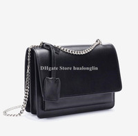 Wholesale linen shoulder bags resale online - Leather Bag Woman original box high quality shoulder cross body messenger bags