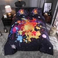 Wholesale 3d oil printing bedding set for sale - Group buy 2019 new Oil painting graffiti four piece set bedding Luxury Quilt Set flower cotton bed linen Bedding Outlet Life Sets New Home decor