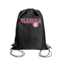 футбол оптовых-Спортивный рюкзак на шнуровке Alabama Crimson Tide football logo Кокосовая пальма Классический удобный Sinch Sack Дорожный тканевый рюкзак