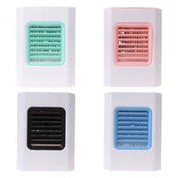 klimagerät handlüfter großhandel-Mini tragbare USB-Luftkühler Handheld Air Conditioner Fan Luftbefeuchter mit LED-Nachtlicht für Home Room Office Desktop