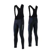 pantalon thermique de cyclisme achat en gros de-Thermal Femmes Toison Vélo Vélo Collants 3D Gel Pad vélo bavoir PANTALON