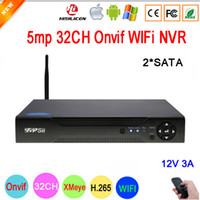 xmeye cctv großhandel-Dahua-Verkleidung Hi3536C XMeye Überwachungsvideorecorder 5mp 32CH 32 Kanal H.265 2 * SATA IP Onvif WIFI CCTV NVR