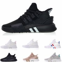 Wholesale knit fabric resale online - 2019 EQT Bask Support Future Running Shoes Triple White black pink Mens Womens Sports Knit Chaussures Designer Sneakers Trainers