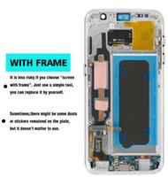 marco digital táctil al por mayor-5.5 pulgadas NUEVA SUPER AMOLED Pantalla LCD para SAMSUNG Galaxy S7 Pantalla G935 SM-G935F con pantalla táctil digital con marco táctil