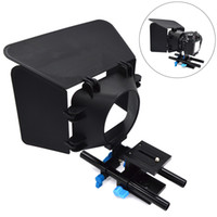 système de support des tiges de 15 mm achat en gros de-Support de tige de rail de 15mm Support de guide de plaque de base pour système de montage d'appareil photo DSLR pour Follow Focus Matte Box LCC77