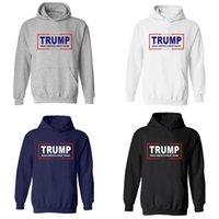 schwarze pullover buchstaben großhandel-Machen Sie Amerika groß wieder Hoodie Beliebte Trend Unisex-Kleidung Weiß Schwarz Buchstaben Pullover Reiner Baumwolle 34 8zk Ww