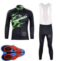 merida uzun kollu bisiklet mayo toptan satış-MERIDA ekibi Bisiklet uzun Kollu jersey önlüğü pantolon setleri Açık spor Erkek giysileri Yol Bisiklet Rahat U82911