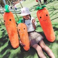 amor encantadores bebe al por mayor-Corea Kawaii suave felpa almohada zanahoria grande y preciosa, zanahorias conejito blanco anaranjado del juguete de regalo del amante del bebé 110cm 43inch