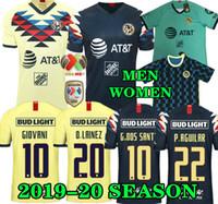 camisas do futebol de méxico venda por atacado-G. Dos Santos 19 20 em casa América camisa Amarela futebol R.SAMBUEZA P.AGUILAR 2019 2020 afastado México clube terceiro verde Camisa de Futebol MULHERES