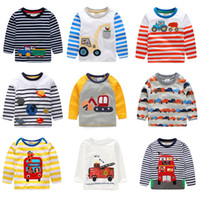 unterseiten jungen, die kinder kleiden großhandel-Kinder Langarmshirts Kinder Designer Kleidung Jungen Mädchen Kidss Cartoon Baumwolle Hemd Baby Rundhals T-stücke 19