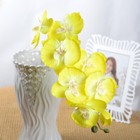 Wholesale blue orchid home decor for sale - Group buy GEZICHTA Home Fashion Simulation Single Small Butterfly Orchid Artificial Flower Decor
