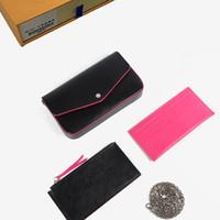 billetera de pvc al por mayor-diseñador de bolsos de diseño de embrague bolsa de cuero carteras bolsos carteras billeteras para mujer titular de la tarjeta monedero del diseñador bolsa de hombro con la caja 610104