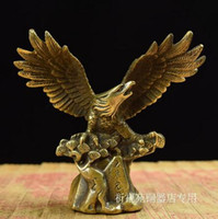 Wholesale antique brass eagle resale online - copper ornaments small solid copper crafts solid brass Eagle Eagle realize the ambition of minimum package decoration